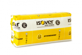 Mineralinė vata ISOVER STANDARD 35 Matmenys 100 x 560 x 870 mm, universalios vatos plokštės, ( pak. - 0,492 m³) 31482