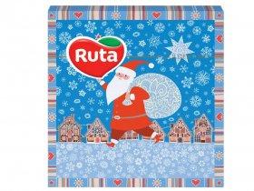 Kalėdinės servetėlės RUTA, 33 x 33 cm., 20 vnt., 2 sluoks., senis šaltis
