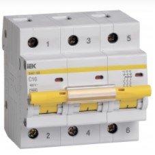 Automatinis išjungiklis IEK MVA30-3-010-C, 3P, 10 A, 6 kA, C