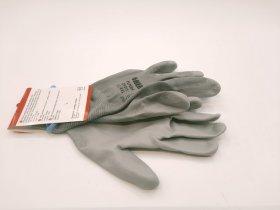 Pirštinės poliesterinės HERVIN, pilkos, aplietos poliuretanu, dydis L(9), PLP001