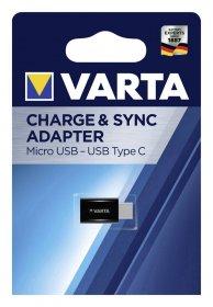 Adapteris VARTA, iš Micro USB į Type C, 57945101401