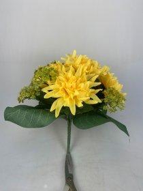 Dirbtinių chrizantemų puokštė NOVELLY HOME, geltonos sp., A4373x13