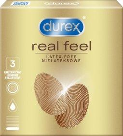 Prezervatyvai DUREX REAL FEEL, 3 vnt.