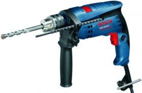 Smūginis gręžtuvas BOSCH GSB 1600 RE Blue, galia 701 W, 13 mm griebtuvas