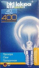 Kaitrinė lempa ISKRA, 40 W, E14, 230 V, burbuliukas, skaidrus, 557018