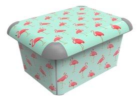 Daiktadėžė ROTHO CONCEPT BOX, šviesiai mėlyna su flamingais, N