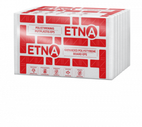 Polistireninis putplastis ETNA EPS 70 Frez., Matmenys 200 x 600 x 1200 mm, 1pak. - 0,4159m3