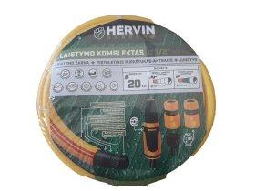 """Laistymo komplektas, laistymo žarna 5sl ½"""" 20 m ir puršškimo antgalis su jungtimis,  Hervin garden+"""