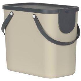 Šiukšlių dėžė rūšiavimui Rotho Albula 25 l, cappuccino sp.