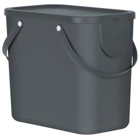 Šiukšlių dėžė rūšiavimui Rotho Albula 25 l, juodos sp.