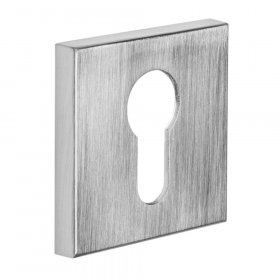 Durų apyraktė INOVO SLIM 17, PZ cilindrui, matinės chromo spalvos, kvadratas