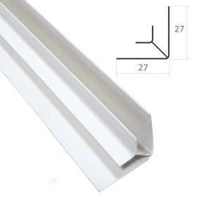 Vidinis profilis PVC dailylentėms WAKSLINE V 3000 x 7 mm, baltas, N