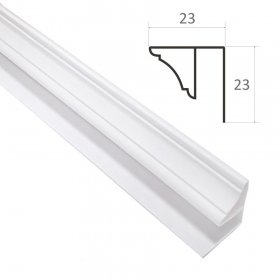 Lubinis profilis PVC dailylentėms WAKSLINE L 3000 x 7 mm, baltas, N