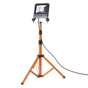 LED prožektorius LEDVANCE WORKLIGHT, 1 x 50 W, su stovu, pasukamas, 220-240 V, 4000 K, 4500 lm, IP65, 120 laipsnių, pilkos sp., 780x680x1800 mm,