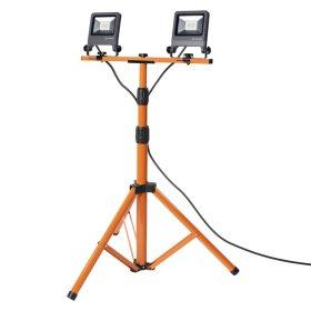 LED prožektorius LEDVANCE WORKLIGHT, 2 x 20 W, su stovu, pasukamas, 220-240 V, 4000 K, 3400 lm, IP65, 120 laipsnių, pilkos sp., 780x680x1700 mm