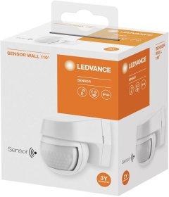 Judesio jutiklis LEDVANCE WT, IP44, 110 laispsnių, 12 m, 1000W, 220-240V, 1-1000 lx, 2 s - 15 min., -10...+40 laipsnių, baltos spalvos, 60 x 77 x 72 mm