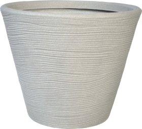 Plastikinis lauko vazonas CMHA 45 cm., baltos sp.