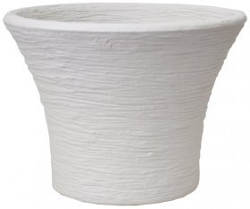 Plastikinis lauko vazonas CMRO 40 cm., baltas sp.