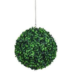 Dekoratyvinis dirbtinės žolės kamuolys HERVIN GARDEN RPCQ2-E skersmuo: 27cm. Sudėtis: PU, buksmedis