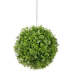 Dekoratyvinis dirbtinės žolės kamuolys HERVIN GARDEN RPCQ15 - A, Skersmuo:  30 cm, Sudėtis: PU, su baltomis uogomis