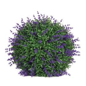 Dekoratyvinis dirbtinės žolės kamuolys HERVIN GARDEN RPCQ6 - B, Skersmuo:  32 cm, Sudėtis: PU, su violetinėmis uogomis