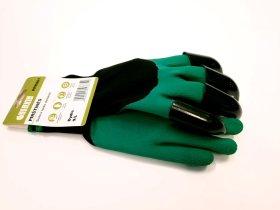 Poliesterinės pirštinės HERVIN, aplietos lateksu su kasimo antgaliais HERVIN PPK001