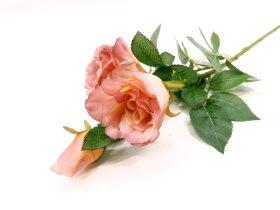 """Dirbtinė gėlė rožė """"Novelly Home"""", sendintos rožinės sp. 79cm,  DY26-9"""
