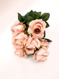 """Dirbtinių rožių puokštė """"Novelly Home"""", baltos sp. 45 cm,  DY1-2499B"""
