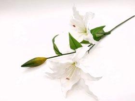"Dirbtinė gėlė lelija ""Novelly Home"", baltos sp. 76 cm,  DY1-107A"