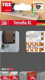 Universalus rėminis kaištis TOX, Tetrafix XL 6/65, 12 vnt.