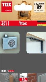 Kaištis akytam betonui TOX, Ytox M12/60, 2 vnt.