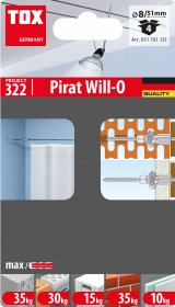 Universalus kaištis su kilpa TOX, Trika/Pirat Will-O, 4 vnt.