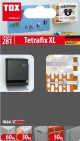 Universalus rėminis kaištis su sraigtu TOX Tetrafix XL