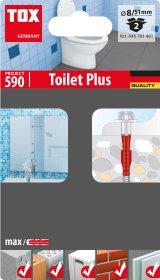 WC tvirtinimo kompl. TOX, Toilet Plus, 2 vnt.