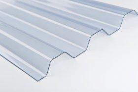 Profiliuota plokštė OMBRE  Matmenys 7 x 900 x 2000 mm, trapecinė, skaidri