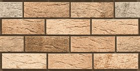 Akmens masės sienų plytelės BUENO EURO MADRID ELEVATION 7154 REKT, 30 x 60 x 0,95 cm, 0,900 m2/dėž., glazūruotos, šv.rudos spalvos plytos