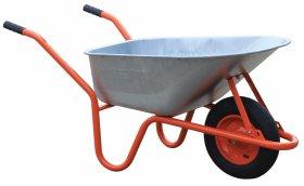 """Statybinis karutis HERVIN LX100, 100 l, iki 160 kg, cinkuotas, pripučiamas ratas 3,50""""x 8"""", oranžinis, pagaminta ES"""
