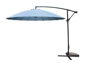 Sodo skėtis nuo saulės, pakreipimo alkūne, stovas, mėlynas, skersmuo: 300 cm., NCM009