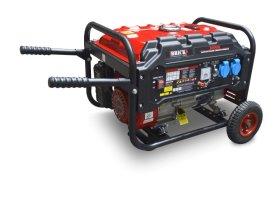 Benzininis generatorius BRICK, maks. galia 3 kW, nuolatinė galia 2,8 kW, bako talpa 15 l