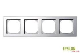 Rėmelis LIREGUS EPSILON 4 vietų, metalo spalvos, K14-145-04 E/Mt