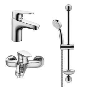 Dušo/vonios komplektas HERZ INFINITY, komplekte: praustuvo maišytuvas, dušo/vonios maišytuvas ir dušo laikiklis, stovas, dušo galvutė, UH00069, Austrija