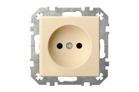 Kištukinis lizdas LIREGUS EPSILON 1 vietos, įleidžiamas, smėlio spalvos, be įžeminimo, IKL16-304-01 E/S