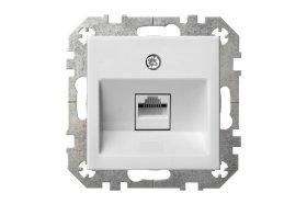 Kompiuterio lizdas EPSILON IKL-001-01 E/B  įl. 1v., baltos sp. b/r RJ45 6e,