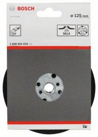 Atraminis diskas BOSCH, 125 mm, 12 500 aps./min.,  D125 mm, 1 vnt.
