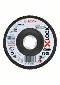 Gaubtas žiedlapinis diskas BOSCH X-LOCK, D 125 mm, K 60, lenktas