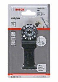 "Multifunkcinio įrankio HCS įpjaunamasis pjūklelis BOSCH ""AIZ 32 EPC Wood"" 50 x 32 mm STARLOCK"
