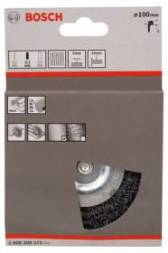 Vielinis šlifavimo diskas BOSCH lenkta viela, 100 x 0,3 mm, plienas 100 mm, 0,3 mm, 10 mm