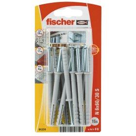 Kalami kaiščiai FISCHER, 6 x 60 mm, 15 vnt.