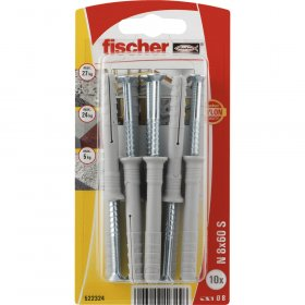 Kalami kaiščiai FISCHER, 8 x 60 mm, 10 vnt.