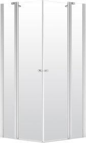 Dušo kabina DEANTE ALPINIA, 80 x 80 x 195 cm, kvadratinė, skaidrus grūdintas 6 mm stiklas, be padėklo